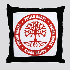 Polish Roots Throw Pillow